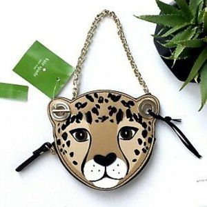 Kate Spade Run Wild Leopard Coin Purse New